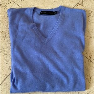 Men's periwinkle 100% cashmere sweater